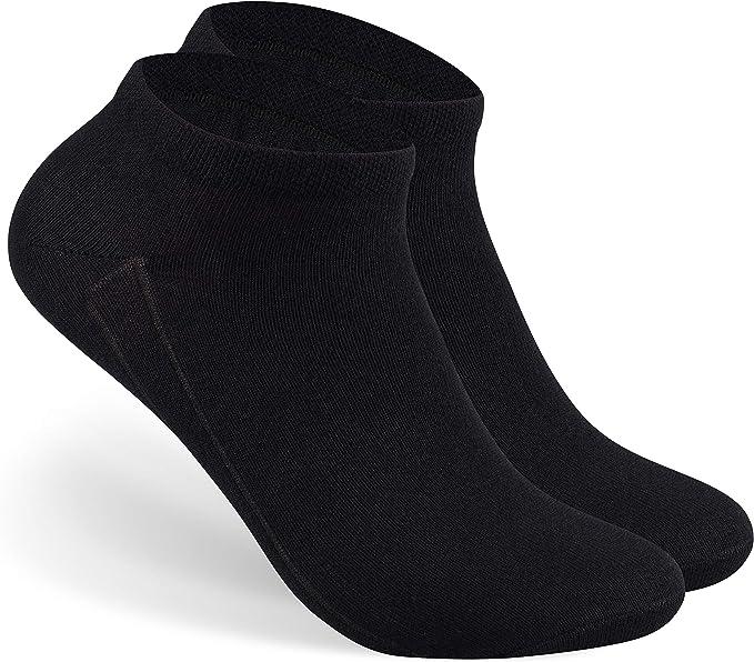 24 Paar Damen Sneaker Socken schwarz mit Elasthan 39//42