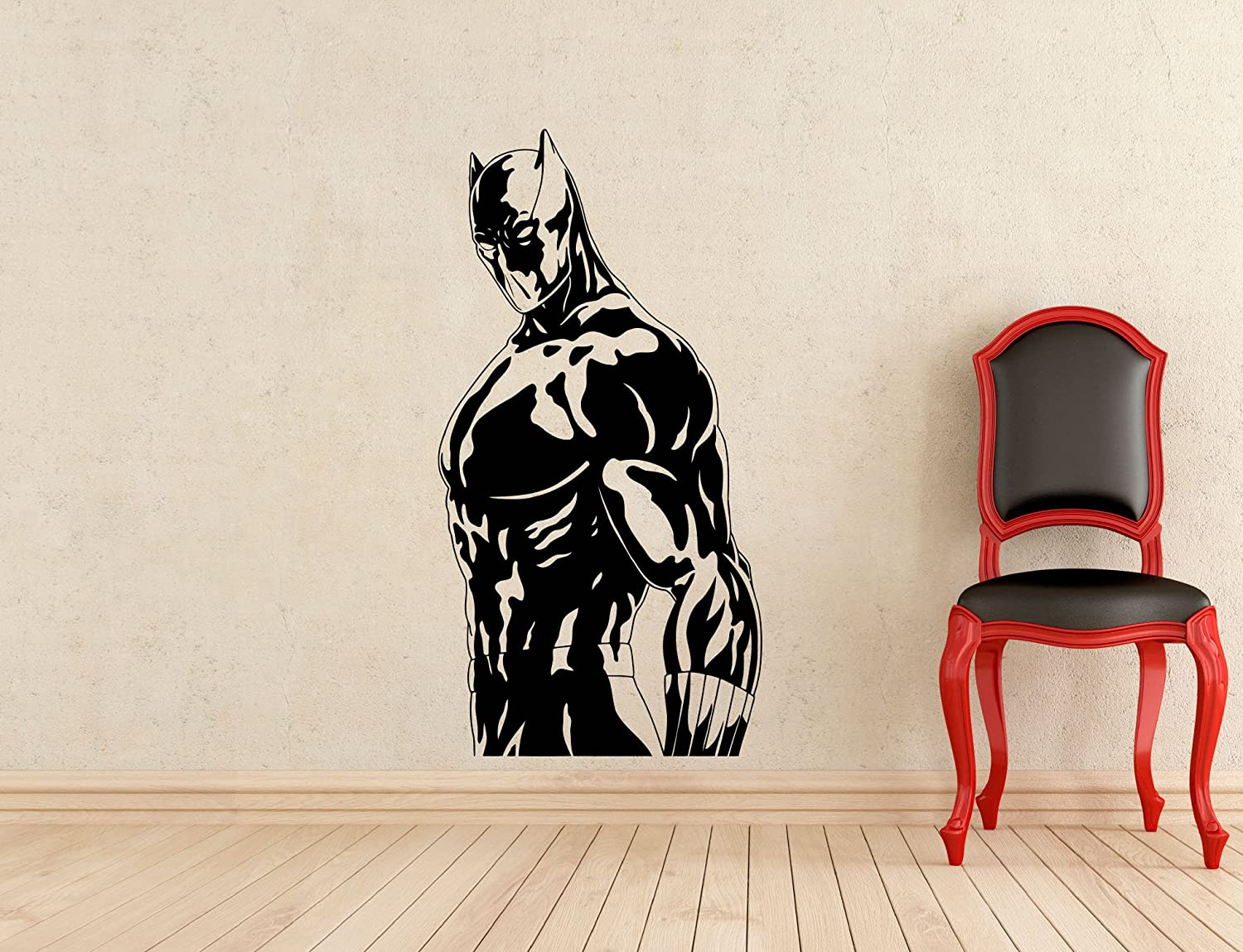 Black panther wall decal superhero vinyl sticker wall decor removable waterproof decal 126z amazon com