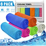 """IDEATECH Cooling Towels, 40""""x12"""" 46""""x32"""" Instant Cooling Chilly Towels -UPF 50+ Cooling Ice Towels for Sports, Workout…"""