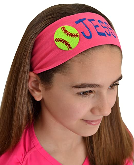Amazon.com  Personalized Embroidered SOFTBALL Patch Cotton Stretch ... ed8aead5ef9