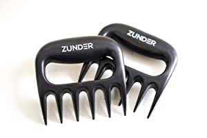 Zunder Best Pulled Pork Claws BBQ MEAT FORKS - smoker tools - barbecue shredding accessory - Heat resistant for grill - smoker and grilling accessories - chicken/pork shredder