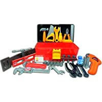 Think Gizmos Deluxe Toy Tool Set for Toddlers TG668 – Fun Tool Box Kit for Boys with 40 Pieces Including Battery Powered…