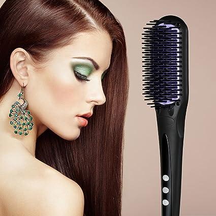 EUPH - Cepillo alisador de pelo multifuncional con doble anión para un efecto má