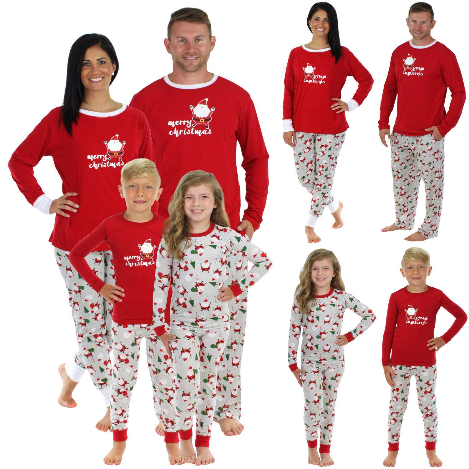 Family Matching Christmas Pajamas Set Women Baby Kids Sleepwear Xmas Nightwear Set