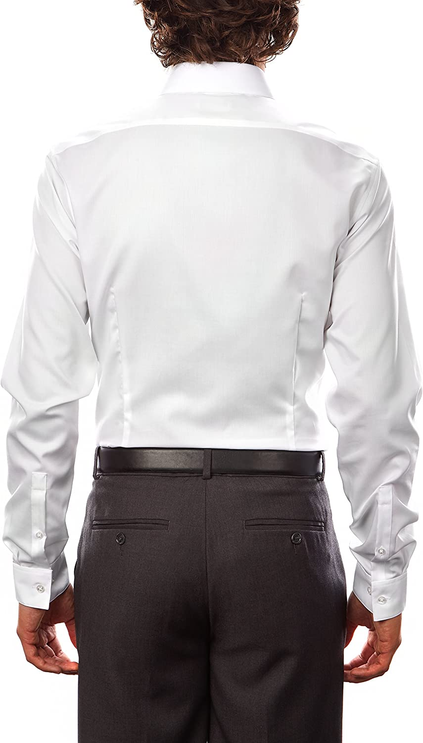 Calvin Klein Men's Dress Shirt Xtreme Slim Fit Non Iron Herringbone at  Men's Clothing store
