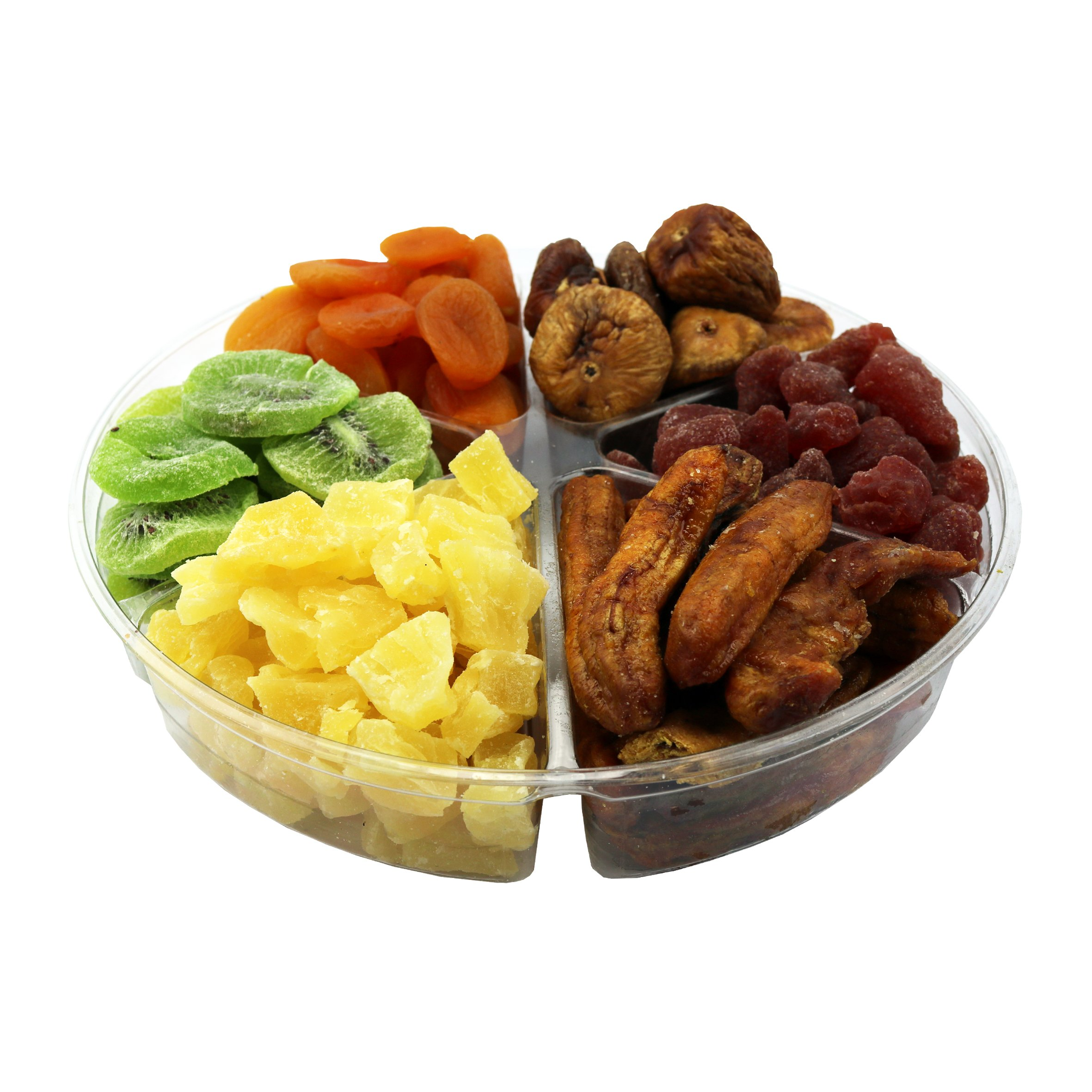 Dried Fruit Deluxe Gift Tray, 6 Section Collection of Fresh Fruits By FirstChoiceCandy by First Choice Candy (Image #3)