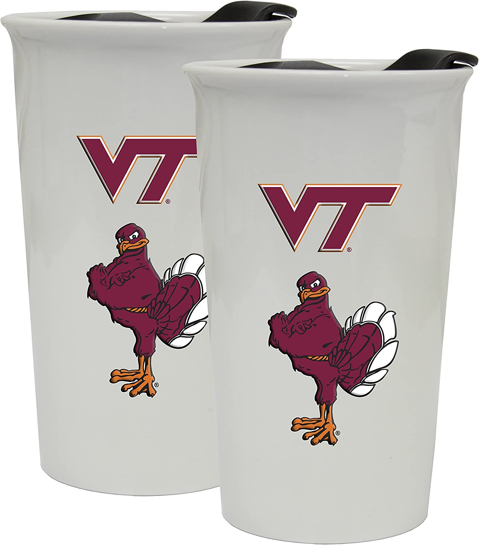 Virginia Tech Hokies Double Walled Ceramic Tumbler 2-Pack