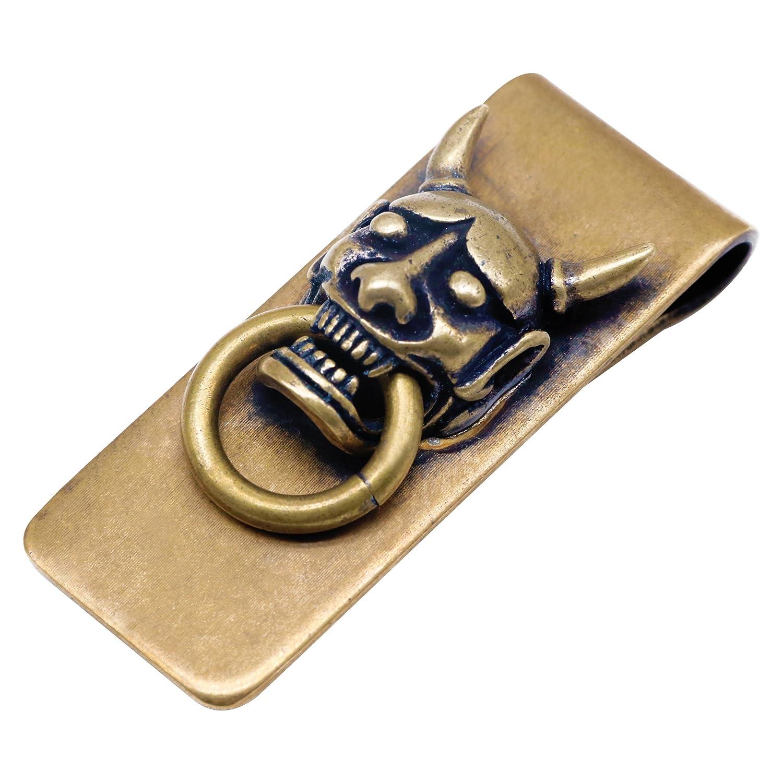 Luxus Personalisierte Geld und Kreditkarte Clip Bill Fold Wallet Geldklammer Messing Geldhalter-Geld-Clamp Note in Gold- AUTULET