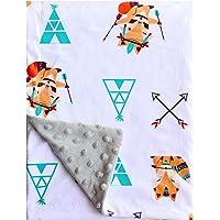 "Minky Blanket Baby Soft Fox Baby Blanket Fleece for Boys Girls for Nursery Stroller, Crib 30""x40""with Double Layer…"
