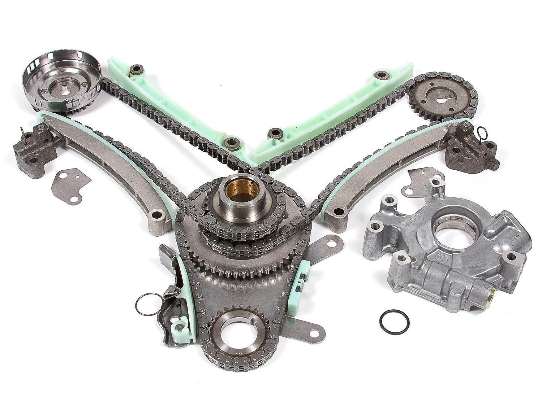 Evergreen Tk5047eop 99 04 Dodge Jeep 47l Timing Chain Belt 2006 Laredo Kit Oil Pump Jtec Cam Gear Automotive