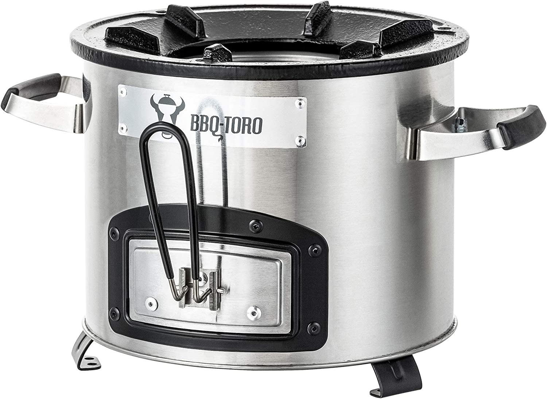 BBQ-Toro Raketenofen RAKETE #5Rocket Stove Stecksystem für Dutch OvenStahl