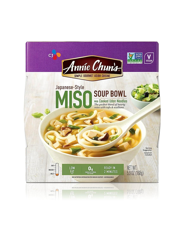 Annie Chun's Miso Soup Noodle Bowl, Non-GMO, Vegan, 5.9-oz (Pack of 6)