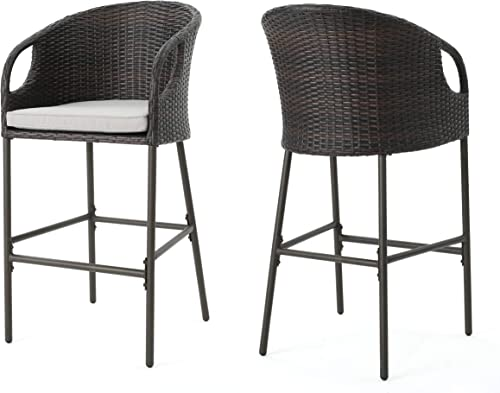 Christopher Knight Home Dominica Outdoor Wicker Barstools