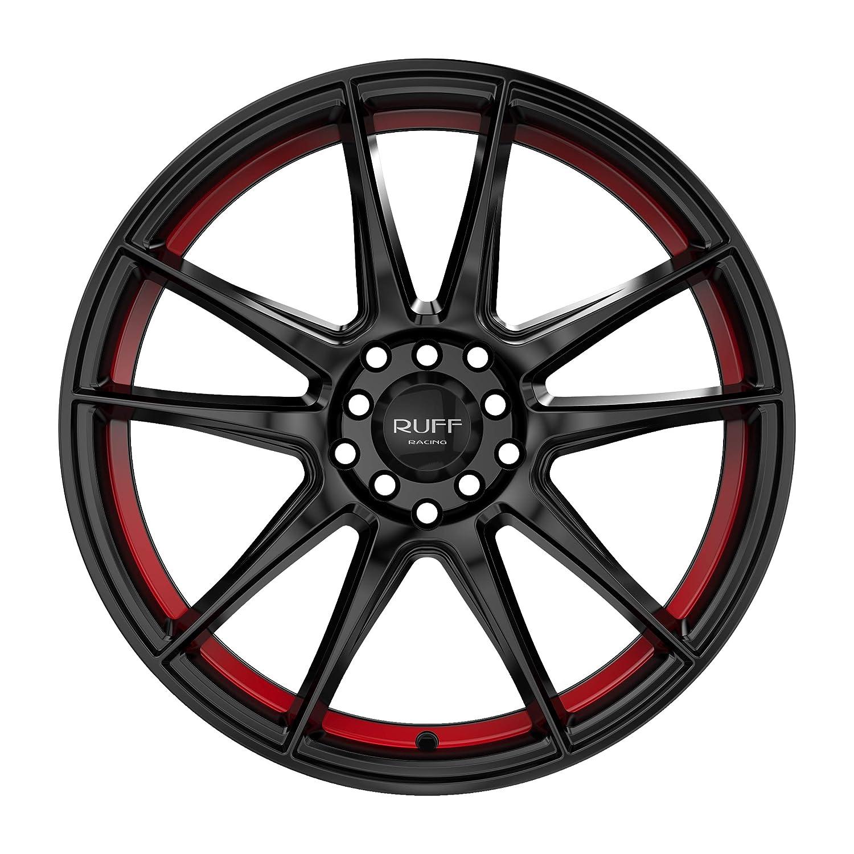 Ruff R364 18x8 4x100//4x114.3 38mm Black//Red Wheel Rim