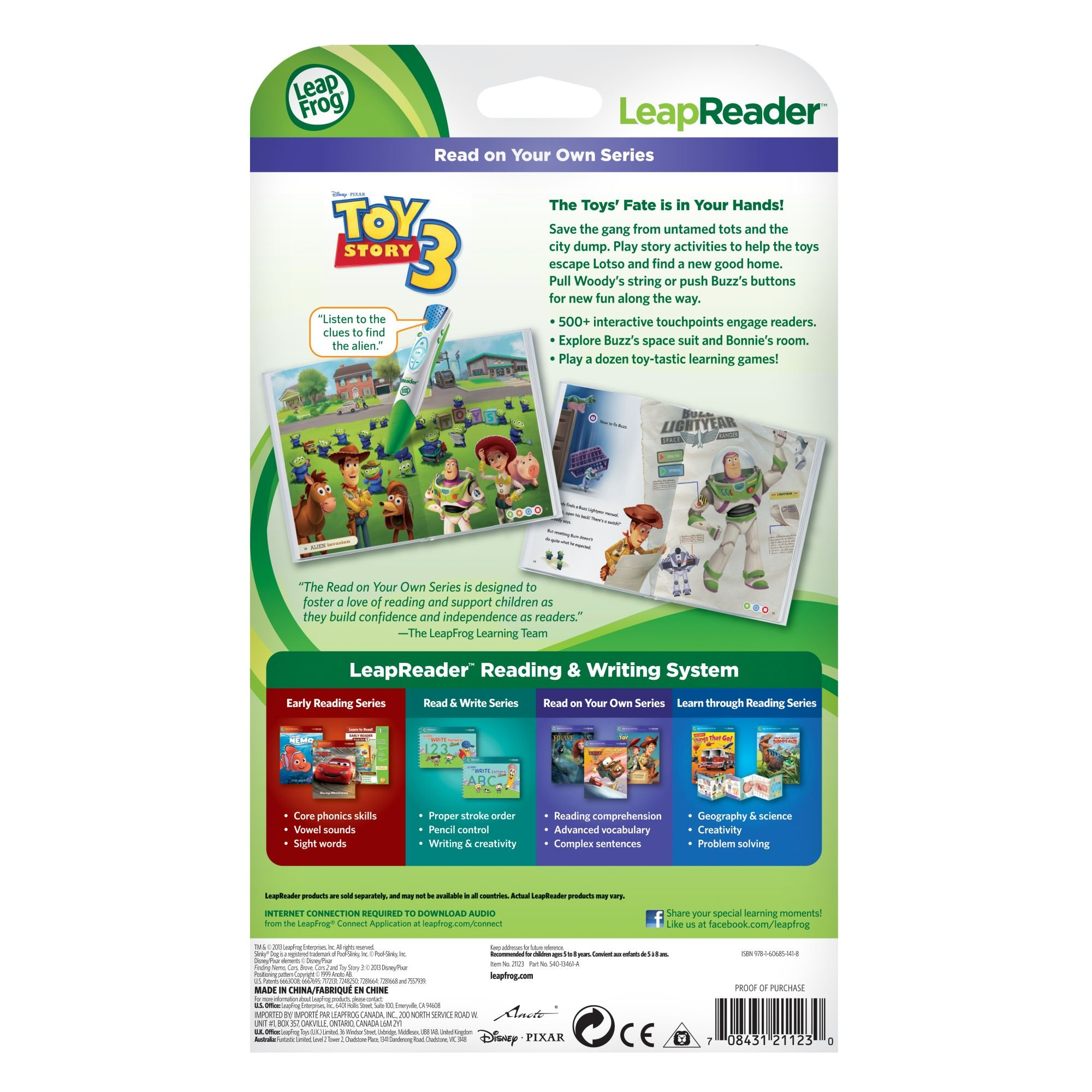 LeapFrog LeapReader Book: Disney Pixar Toy Story 3: Together Again (works with Tag) Packaging May Vary by LeapFrog (Image #4)