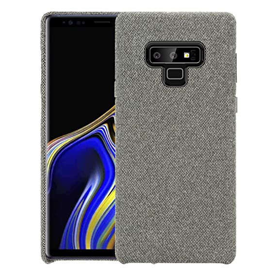 new arrival 1905c 7dcfa bb face Samsung Galaxy Note9 Fabric Case, Drop Protection with Soft Cotton  Texture Cover and Anti-Scratch Plastic Grip Back Case for Galaxy Note 9 6.4  ...
