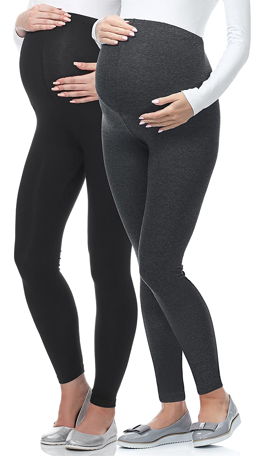 Be Mammy Lot de 2 Leggings Longs Grossesse Maternit/é Tenue Sport 02