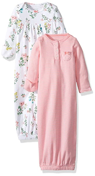 Amazon.com: Carter\'s Big Girls\' 2 Pack Floral Gowns (Baby) - Pink ...