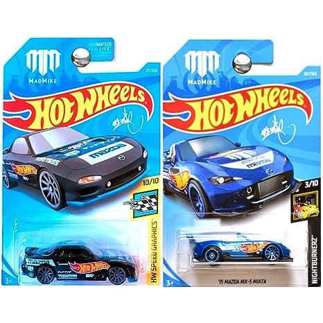 Amazon com: Hot Wheels 2016 and 2018 Mazda MX5 MX-5 Miata in
