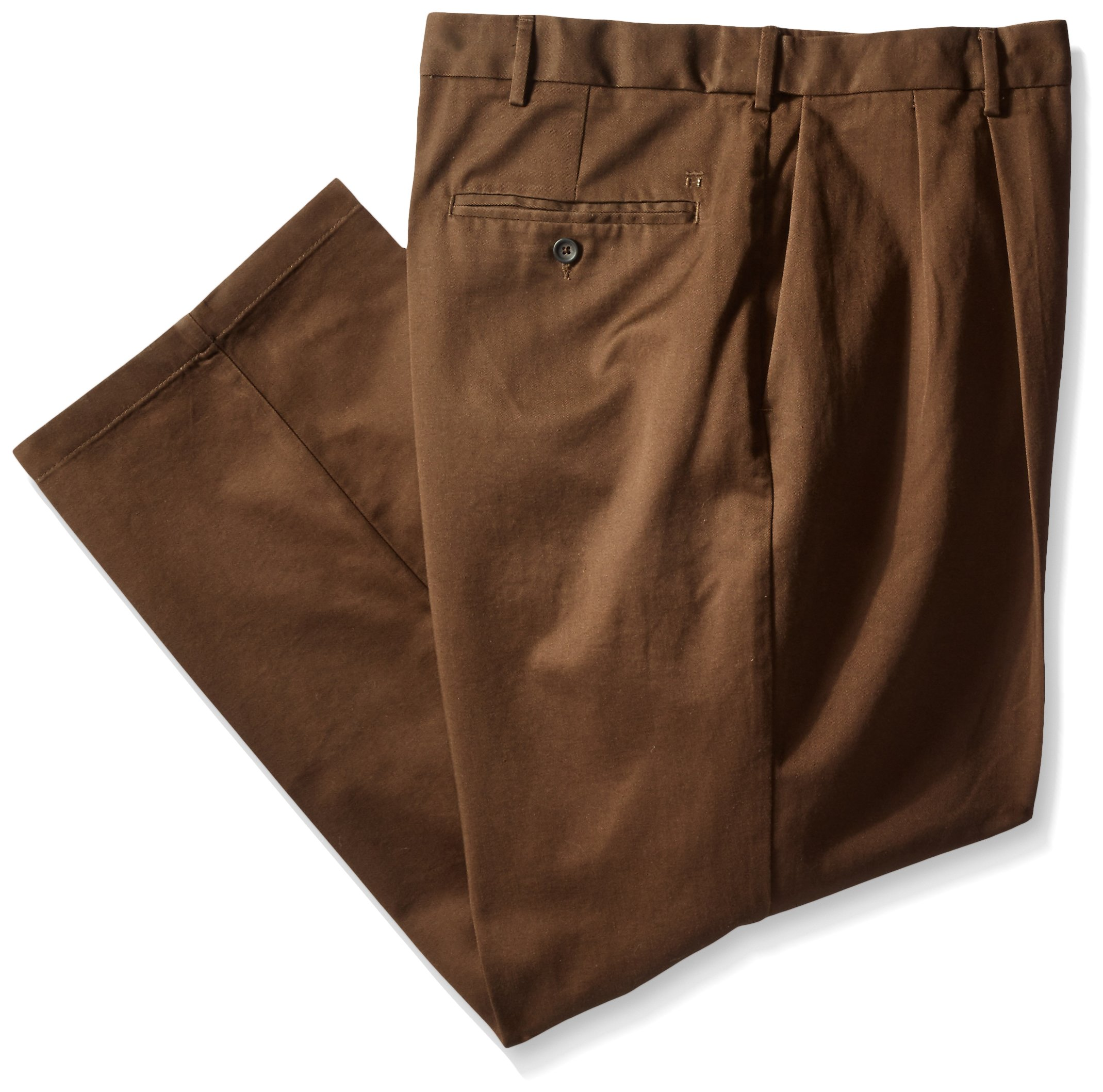 Haggar Men's Big-Tall Work To Weekend Hidden Expandable Waist Pleat Front Pant, Bean, 44x34