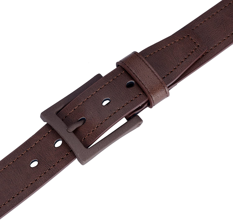 1.5 Inch Wide Classic Jean Belts For Men Marino Mens Leather Belt