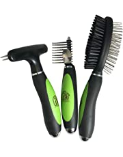 Pet Magasin Professional Grooming Brush Tools for All Pets, 3-Pack