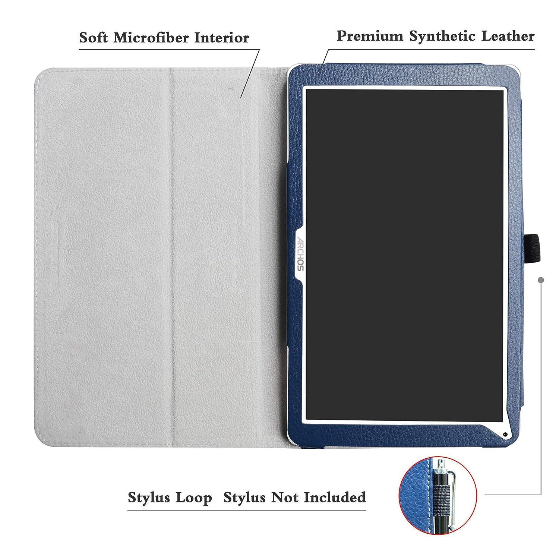 Soporte Cuero con Slim PU Funda Caso Case para 10.1 Archos Access 101 3G Tablet Not fit Access 101 WiFi LFDZ Archos Access 101 3G Funda ,Azul