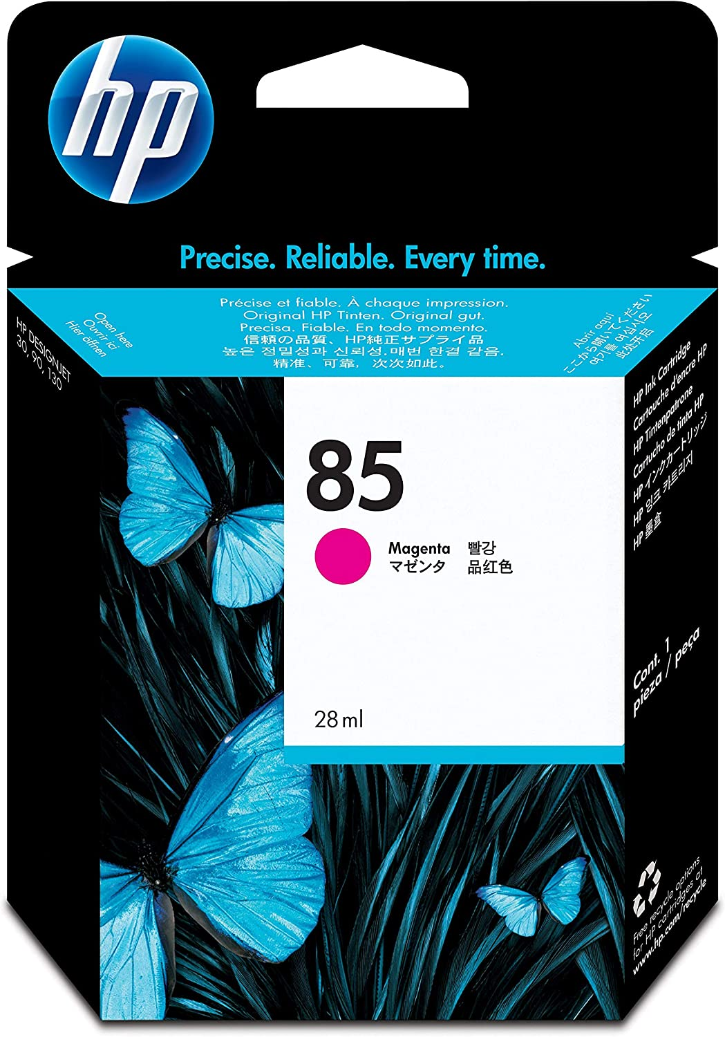 HP 85 Magenta 28-ml Genuine Ink Cartridge (C9426A) for DesignJet 130, 90 & 30 Large Format Printers