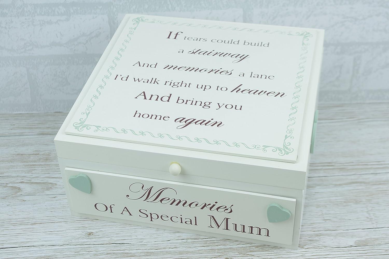 Ex Large Memory Box Memories Wooden Keepsake if Tears Special Mum by Global Designs F1654B