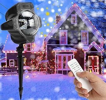 Weihnachtsbeleuchtung Aussen Schneefall.Led Projektionslampe Weihnachten Weihnachtsbeleuchtung Außen Innen Schneefall Effektlicht Mit Fernbedienung Timer Led Projektor Lampe Ip65