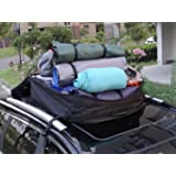 Cargo Carrier Roof Bag 16 Cubic Feet Car Top Carrier with Roof Mat and Lock, Perfect for Vehicle Van SUV without Racks or with Raised Side Rails (16 cu ft Car Top Carrier Black(No Rain Cover))