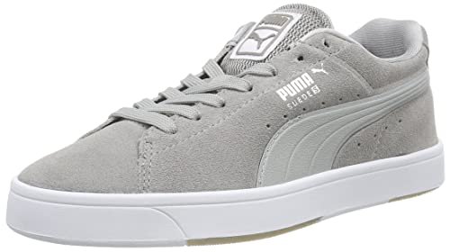UK Shoes Store - Puma Suede S Modern Tech Low Unisex Sneakers Grey - Grau (white drizzle-04)