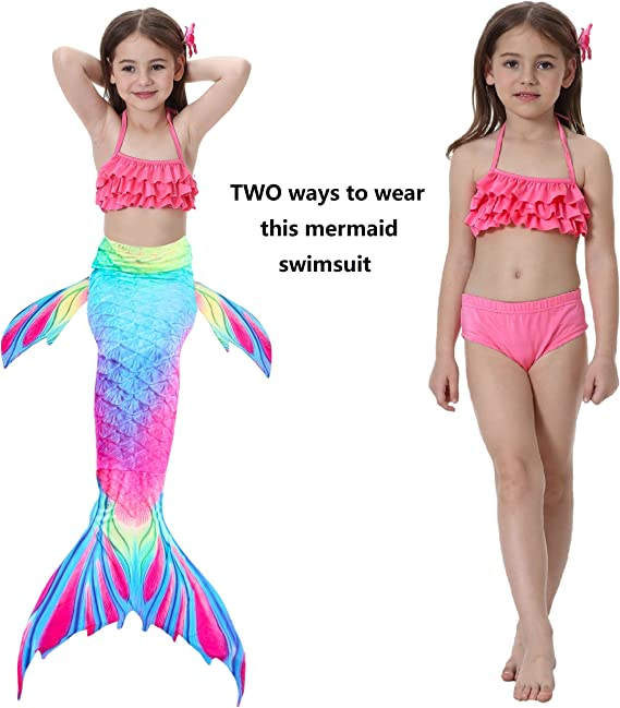 Free Amazon Promo Code 2020 for 4Pcs Girls Swimsuit Mermaid Tails for Swimming
