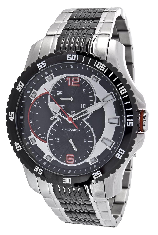 Steel Master Herren-Armbanduhr Chronograph Quarz Analog Leder - CAP1103213C