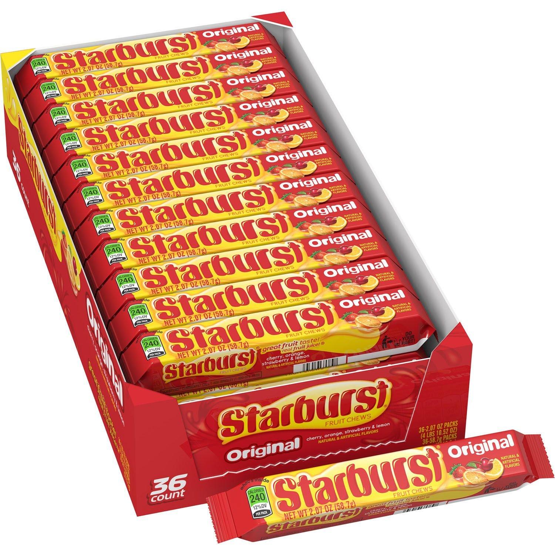 Starburst Original Fruit Chews 2.07 oz, 36 ct. (pack of 4) A1