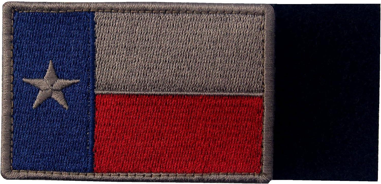 EmbTao Texas Embroidered Tactical Fastener Hook/&Loop Patch Bundle 2 Pieces