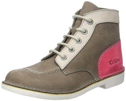 Kickers Kick Col, Botines para Mujer, (Marron Clair Fuschia 93), 41 EU: Amazon.es: Zapatos y complementos