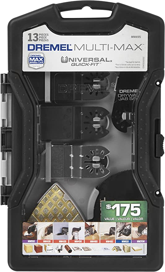 Dremel MM495 Multi-Max Universal Quick-Fit Oscillating Accessory Mega Kit