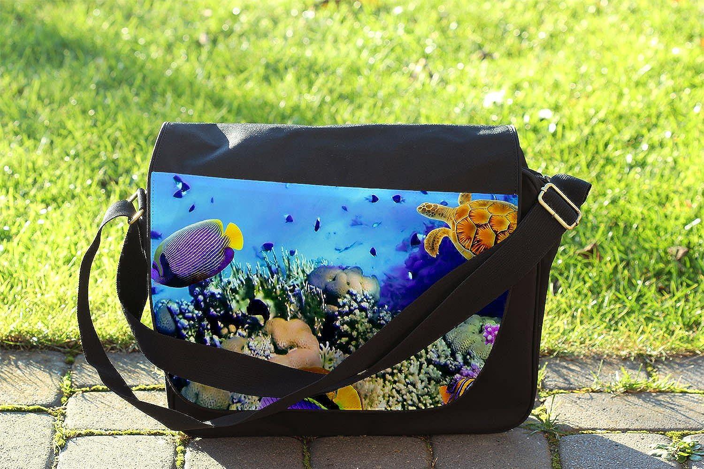 Cross Body Laptop School Work Bag Under The Sea Messenger Bag