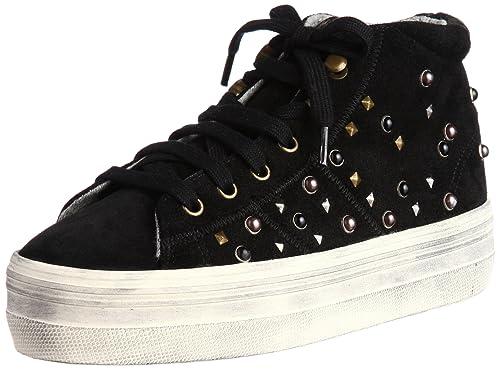 No Name Plato High Cut Studs Split - Zapatillas de Terciopelo para Mujer: Amazon.es: Zapatos y complementos
