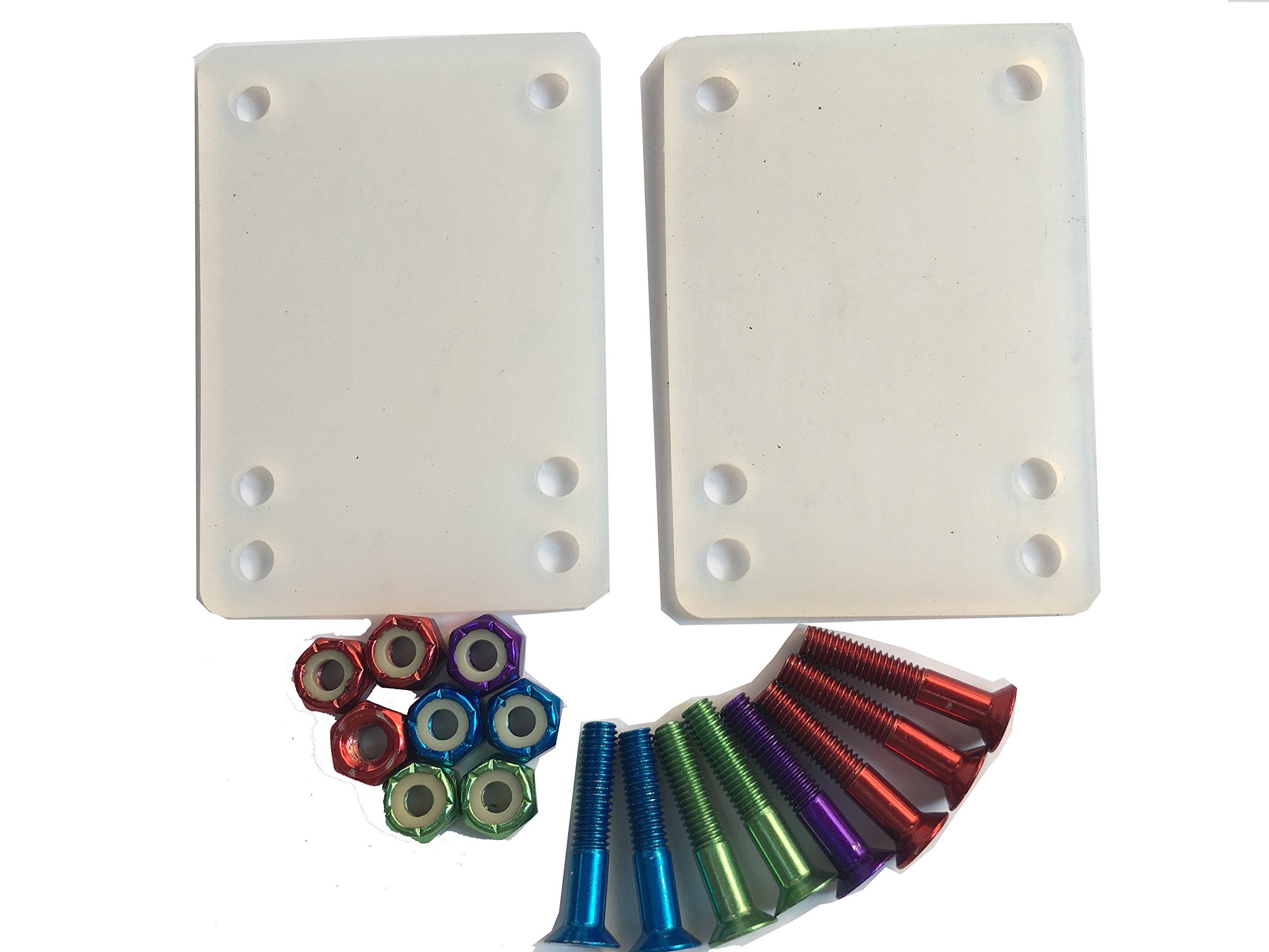 DreamFire Flexiable Rubber Skateboard Riser Pads Hardware Soft Colorful 10 pcs by DreamFire