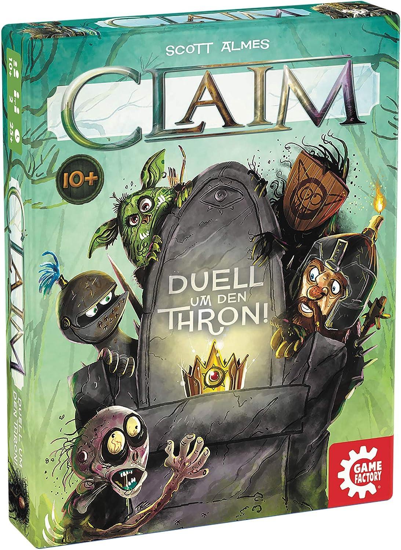 GAMEFACTORY- Claim, Das Duell um den Thron, Cartas, Juego de Puntadas, para 2 Jugadores, Color (Game Factory 646222): Amazon.es: Juguetes y juegos