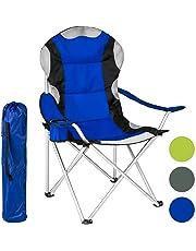 TecTake Silla de camping plegable + Portabebidas + Práctica bolsa de transporte Marco Ø: unos 18 mm - disponible en diferentes colores y varias cantidades -