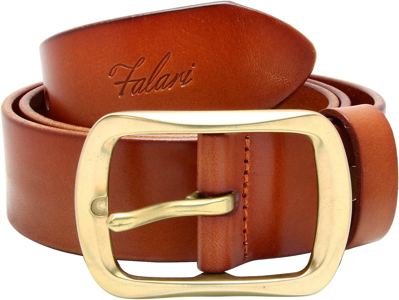 Falari Men/'s Genuine Leather Belt Jeans Belt 9001