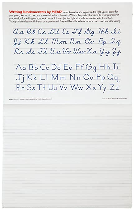 Amazon.com : Mead Learn to Write Tablet, 10 x 8-Inches, 40 Sheets ...