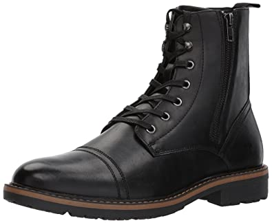 Unlisted by Kenneth Cole Men's Design 30305 Mid Calf Boot, Black, 10 M US