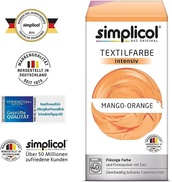 Simplicol Kit de Tinte Textile Dye Intensive Naranja: Colorante ...