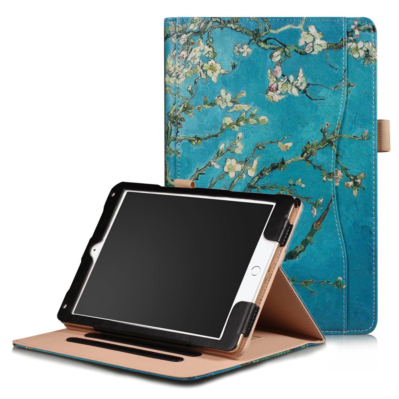 2019人気特価 XBE Apple XBEAPGEU003 iPad 9.7 2018/2017 Z-Apricot マルチカラー/ iPad Air2/ Airケース - iPad 9.7インチ 2018/2017/Air2/Air1用 多機能スタンディングカバー マルチアングルビューと自動ウェイクスリープ付き マルチカラー XBEAPGEU003 Z-Apricot flower B076HNJ8CC, 最先端:4610eddc --- a0267596.xsph.ru