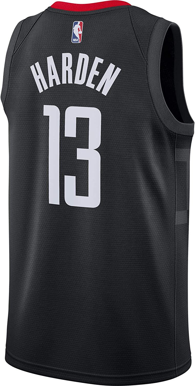 Outerstuff James Harden Houston Rockets #13 Black Youth Statement Edition Swingman Jersey…