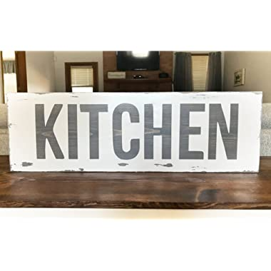 Large Weathered Kitchen Wood, Kitchen Wood sign, Kitchen Decor sign by BeaWOODtiful